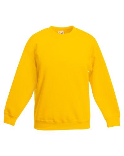 Kostüm Skateboard - Fruite of the Loom Kinder Sweatshirt, vers. Farben 140,Sonnenblumengelb