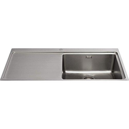 cda-kvf21lss-designer-single-extra-large-bowl-sink-flush-fit-left-hand-drainer