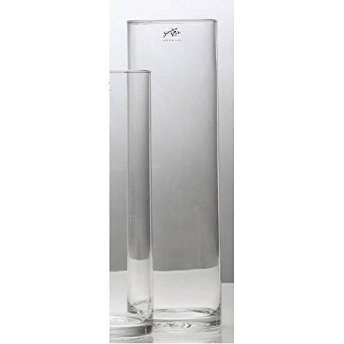 Vaso di vetro Vaso di vetro CYLI tavolo vaso cilindri Vaso 30 cm