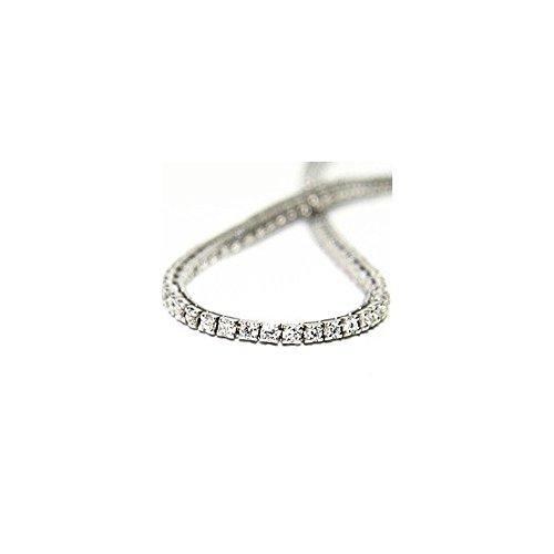0.60ct G/SI1 Diamant Tennis Armband für Damen mit runden Brillantschliff diamanten in 18kt (750) (Kleinkind Kostüme Verkauf)