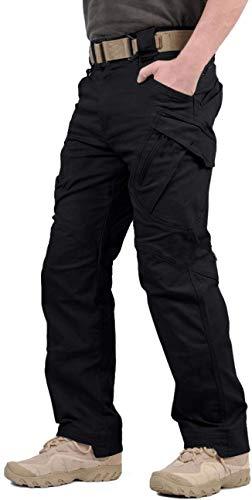 GooDoi Arbeitshosen Männer Military Pants Tactical Hose Arbeitshose für Mann Cargohose Männer Combat Outdoor-Hose für Camping Wandern,Schwarz,28 (=Tag M ,Taille 32 inch) (Herren-taktische Cargo-hosen)