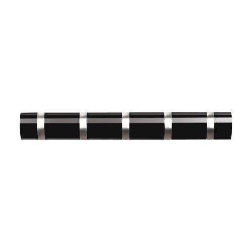 Umbra - appendiabiti da muro orizzontale, colore: nero