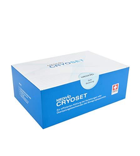 MEDIVID CRYO Therapieset inkl. Testbandage - alles für die Kühltherapie mit MEDIVID CRYO - Komplettset mit CRYO Konzentrat, Bandage, Fixierwrap, Mischbox - optimale Kühlung bei Verletzungen - Schmerzen Im Knie Band