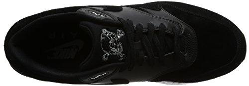 Nike Air Max 1 Premium, Scarpe da Ginnastica Uomo Nero (Black/Chrome/Off White)