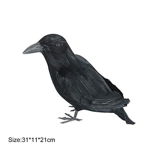 Künstlicher Raben-Vogel, realistische schwarze Feder-Krähen-Vogel-künstliche Handwerks-Stütze-Halloween-Party-Dekoration