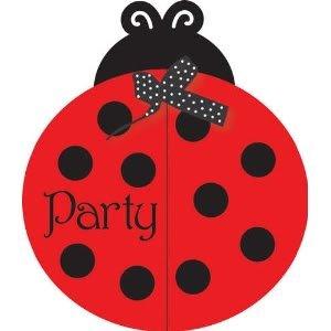 Creative Converting Fancy Geburtstag Party-Einladungen, für Kinder, Marienkäfer, 8 Stück, mit passenden Kuverts, Game,, Spiel-/Kinderzimmer/Kinder