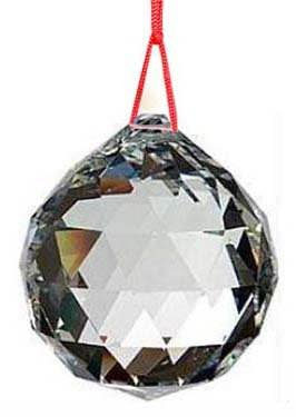 50mm Feng Shui boule de cristal Suncatcher Crystal Glass Ball MY-0055