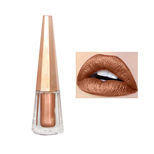 Lip-gloss Cocoa (Lasting Lipstick ,gaddrt matter Lippenstift Glänzender Wasserdicht Pigment Braun Nude lang anhaltender Lippenstift Bilden Shiny Matte Lipstick Waterproof Pigment Brown Nude Long Lasting Lipstick Makeup (A))