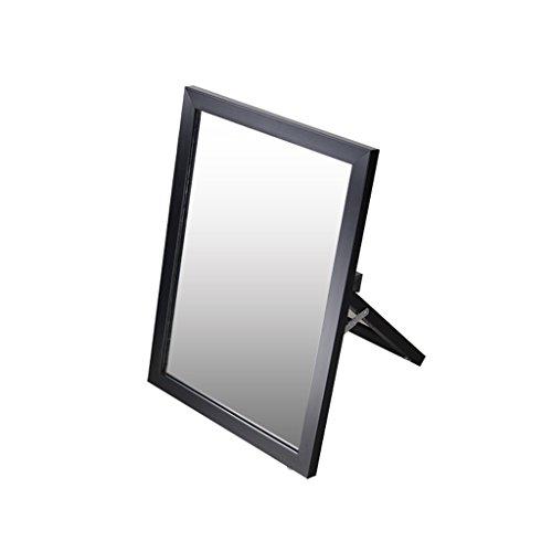 Zfggd Schuhspiegel mit Halterung, Desktop-Kosmetikspiegel/Landetest Schuhspiegel - Single Side HD (Farbe : SCHWARZ)