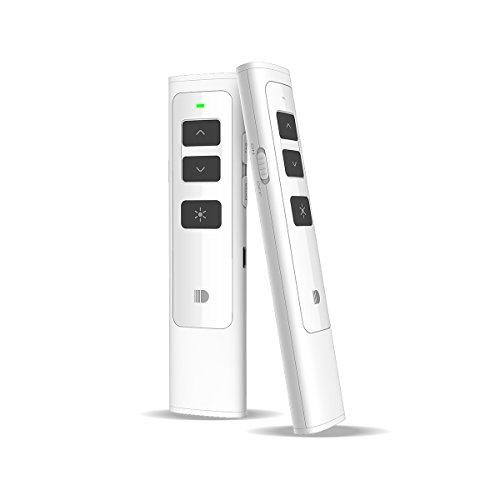 Doosl® Puntatore presentazioni, Wireless Presenter per Powerpoint Ricaricabile Presentatore PPT Remote Control Telecomando Senza Fili Clicker 2.4GHZ USB Penna