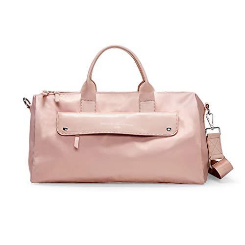 Zunruishop Großraum-Handtaschengepäck Trocken- und Nassabscheidung Fitness-Kurzstrecken-Schwimmsporttasche (Color : Pink B)