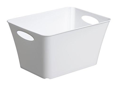 Rotho Allzweckbox Living, Kunststoff, weiß, 35.5 x 26 x 19.2 cm -