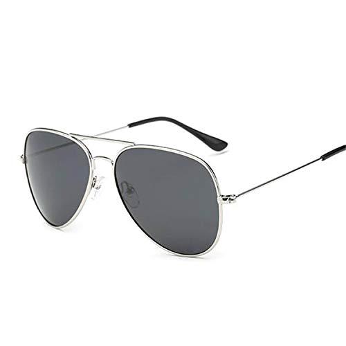 Daawqee Prämie Sonnenbrillen,Brillen,Pilot Sunglasses Women/Men Classic Polarized Aviation Sun Glasses Brand Real High Quality Limited Version Eyewear 3025 Silver Grey -