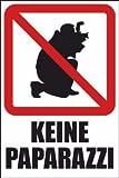 Fotografieren verboten Schild -202s- Keine Paparazzi 29,5cm * 20cm * 2mm, mit 4 Eckenbohrungen (3mm) inkl. 4 Schrauben