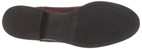 Clarks Marquette Wish, Boots femme Rouge (Wine Leather)