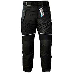 German Wear GW350T - Pantalones de Moto, Negro, 56 EU/2XL: 108 cm