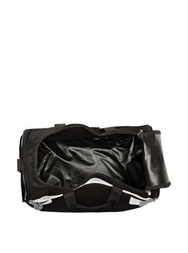 Legea Herren Capri Sporttasche Schultergurt Umhängetasche Fußball Gym 30x50x46 cm (SCHWARZ-GRAU) SCHWARZ-GRAU