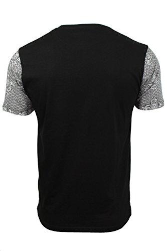 Herren T-Shirt von Brave Soul kurzärmlig Schwarz