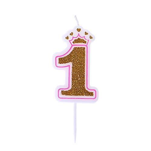Vivianu Nummer 0-9 Kerzen Glänzende Silberne Krone Geburtstagskerzen Für Kinder Geburtstag Party Kuchen Dekor