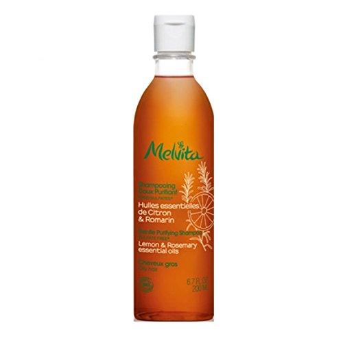 MELVITA - Shampooing doux purifiant - cheveux gras - Flacon de 200ml- (pour la quantité plus que 1 nous vous remboursons le port supplémentaire)