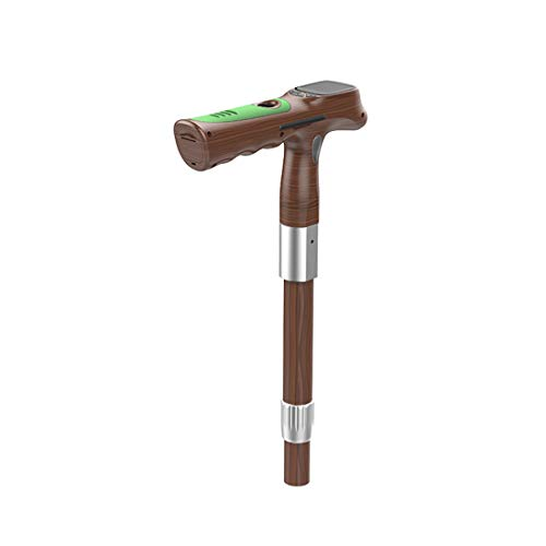Einstellbare Walking Stöcke GPS Positionierung 4G Call Fall Alarm Herzfrequenz Test Radio Alter Mann Smart Walking Sticks,Brown