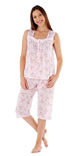 Inspirations Women's MIA Floral Print Sleeveless Top & 3/4 Bottoms Pyjama Set
