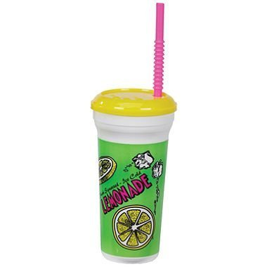 gold-medal-heavy-duty-lemonade-plastic-cup-with-lid-straw-32-oz-300-ct-by-megadeal