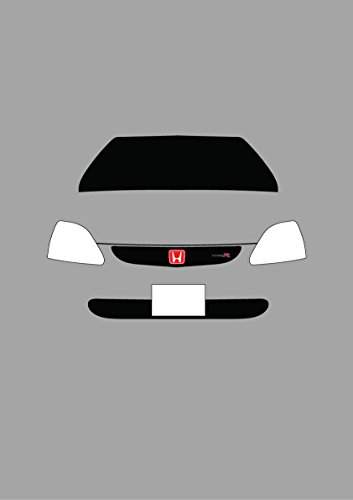 Honda Civic Type R – Retro Motor Company Grußkarte (Honda Civic Hatch)