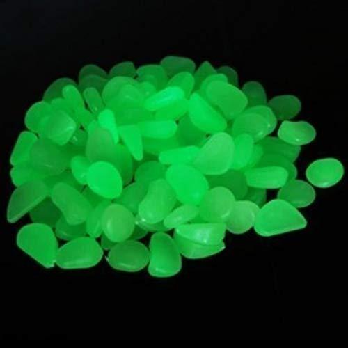 YSD 100PCS Handgefertigtes Grün Glow Pebbles Stein phosphoreszierende Deko Steine für Garten Weg oder Brunnen Aquarium Durchgang, Yard & Fish Tank Dekorative Steine