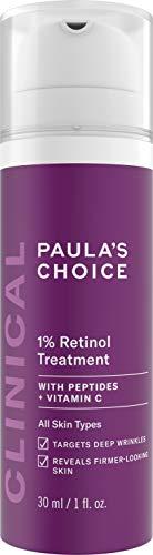 Paula's Choice Clinical 1% Retinol Treatment | Anti Aging Creme gegen Pigmentflecken für Gesicht | Hochdosiert Anti Falten Serum mit Peptide & Vitamin C | für alle Hauttypen | 30 ml (Roc Gesicht Creme)