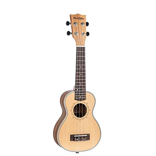 le Fichte Topboard Zebrawood Backboard Palisander Griffbrett Okoume Spindelstock Ukelelen Musikinstrument Spielzeug Gitarre für Anfänger Kleinkinder Kinder ()