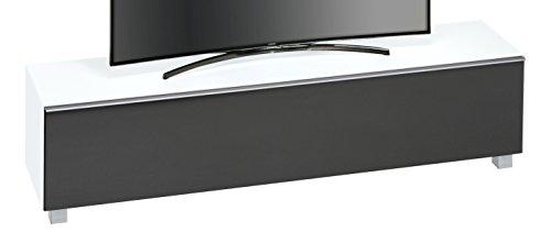 MAJA Möbel SOUNDCONCEPT Glass 7738 Soundboard Weißglas matt - Akustikstoff schwarz, Abmessungen (BxHxT):180,20 x 43,30 x 42 cm, Glas, 20 x 42 x 43,30 cm
