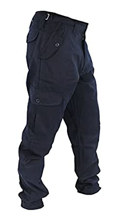 WWK Mens Army Combat Work Trousers Pants Combats Cargo - Navy - 42""