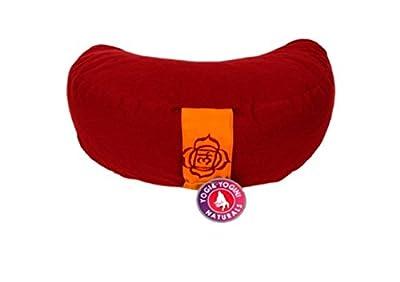 Yoga Kissen Meditationskissen Halbmond 1. Chakra Muladhara rot