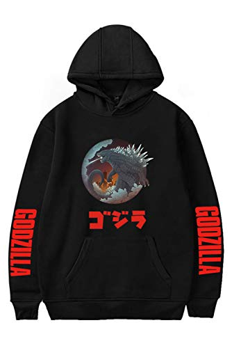 Herren Damen Godzilla 2 King of Monsters Kapuzenjacke 3D Pullover mit Kapuze Sweatjacke Hoodie Cosplay Kostüm Unisex (Monster Hoodie Kostüm)