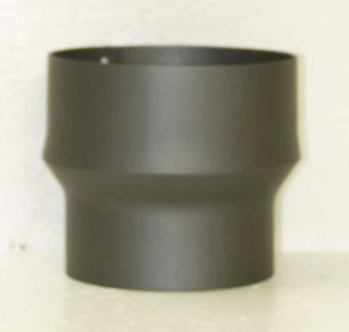 LANZZAS Rauchrohr Ofenrohr Kaminrohr Erweiterung Stahl Farbe grau Ø 130 mm auf Ø 150 mm -