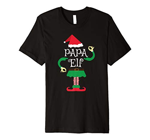 Papa Elf Weihnachten Familie Shirt–Santa Passende Kostüm Tee