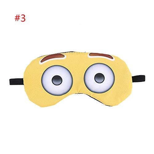 Praktische Niedliche Neue 3d Druck Ruhe Entspannte Augenmaske Schlaf Augenmaske Abdeckung Emoji Augenmaske Augenmaske Augenmaske Augenmaske Typ 3 -