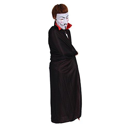 Damjic Halloween Kostüme Tänze Kostüme Urlaub Requisiten Schwarze Umhänge Mit Kapuze Umhänge Alle Schwarzen Umhänge D