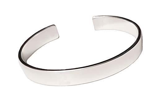 Herren Massiv 925Sterling Silber Armreif Armband-Silber Armband für Herren