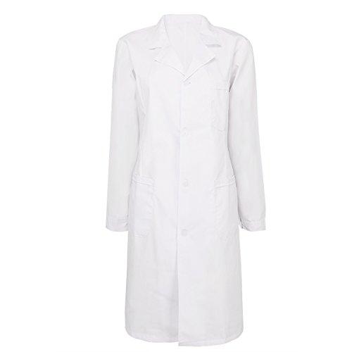 erren Kittel Medizin Arztkittel weiß mit Knöpfe Labormantel Männer Berufsbekleidung Weiß Damen Arztkittel XX-Large (Medizin Frau Kostüm)