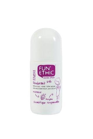 Fun'Ethic - DE30 - Déodorant 24 H - Vivre ses 30 Ans - Sans Sels d'Aluminium - Sans Alcool - Label Cosmebio - 50 ml