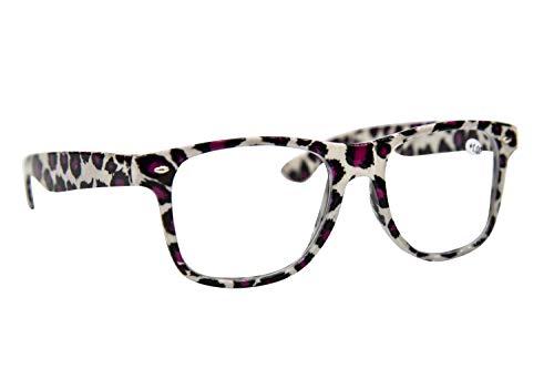 Fads & Fashions Tn49 Retro Wayfarer Stil Lesebrille + 1,0 + 1.25+1.50+2.0+2.5 erhältlich in 16 Colours - Beige Leopard, 0.5+1.0+1.25+1.50+1.75+2.0+2.25+2.5+2.75+3.0+3.50