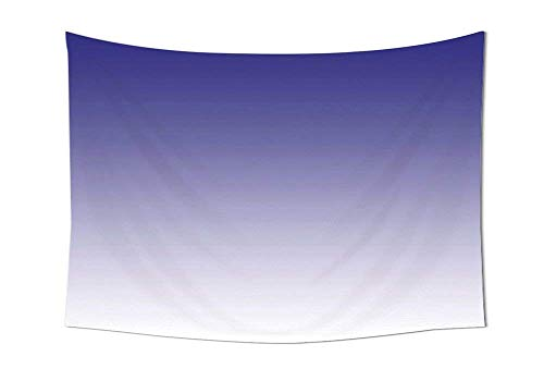 daawqee Ombre Tapestry Twilight in The Morning Inspired Color Ombre Design Digital Print Room Decorations Wall Hanging for Bedroom Living Room Dorm Indigo White Unique Home Decor