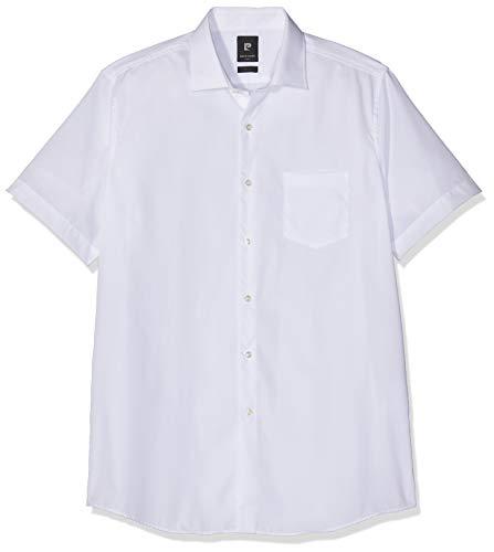 Pierre Cardin Herren Business Hemd Kurzarm Easy Care Denim Academy Businesshemd, Weiß 9000, 50 (Herstellergröße: 44)