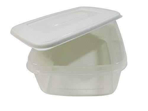 5 x Tag Mehl Mittagessen Training Essen Diät Aufbewahrung Plastik Wannen Blumentöpfe Kiste 2 LT je Hergestellt in Großbritannien
