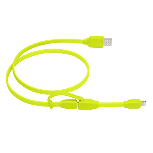 TYLT TYLT-050485 Ladekabel - SYNCABLE Duo - USB auf Lightning + Micro - 0,60 Meter - Grün
