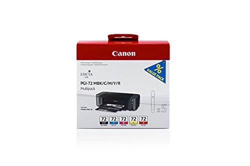 Preisvergleich Produktbild Canon original - Canon Pixma Pro 10 S (PGI-72 / 6402 B 009) - Tintenpatrone MultiPack mattblack cyan magenta yellow red