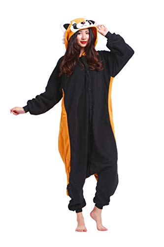 Pyjama Tier Cosplay Red Panda Animal Kigurumi Waschbär Cartoonstil Plüsch für Damen Herren