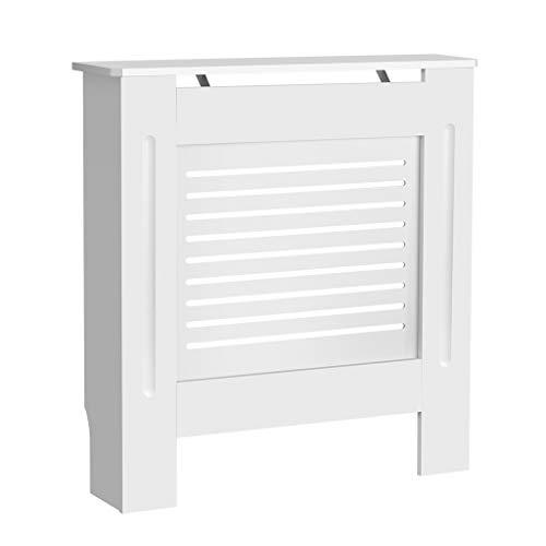 Painted Cache-radiateur Armoire meubles de maison horizontal Design moderne à lattes en MDF Blanc-Différentes tailles S/M/L/XL S blanc